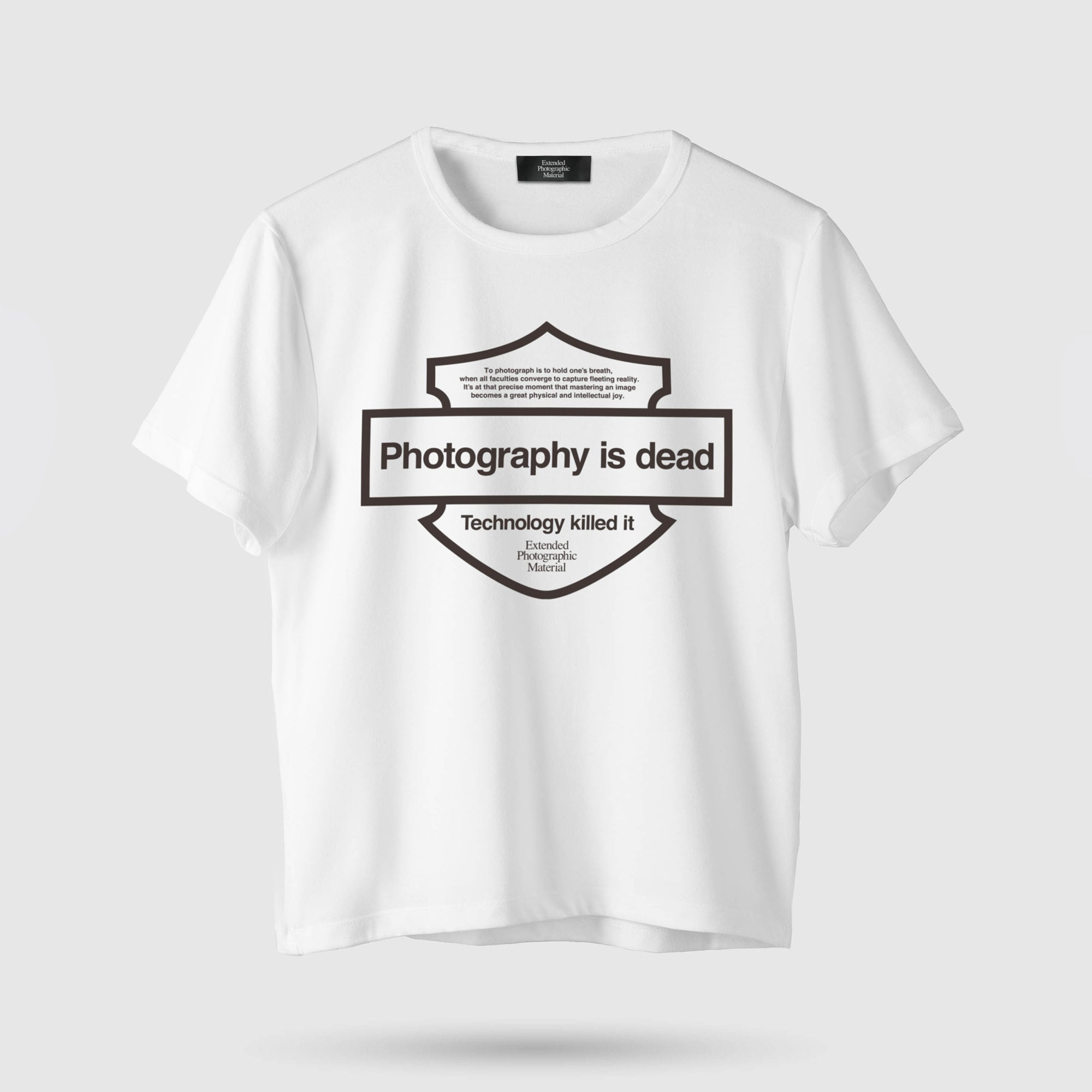 PHOTOGRAPHY IS DEAD T-SHIRT<br>WHITE