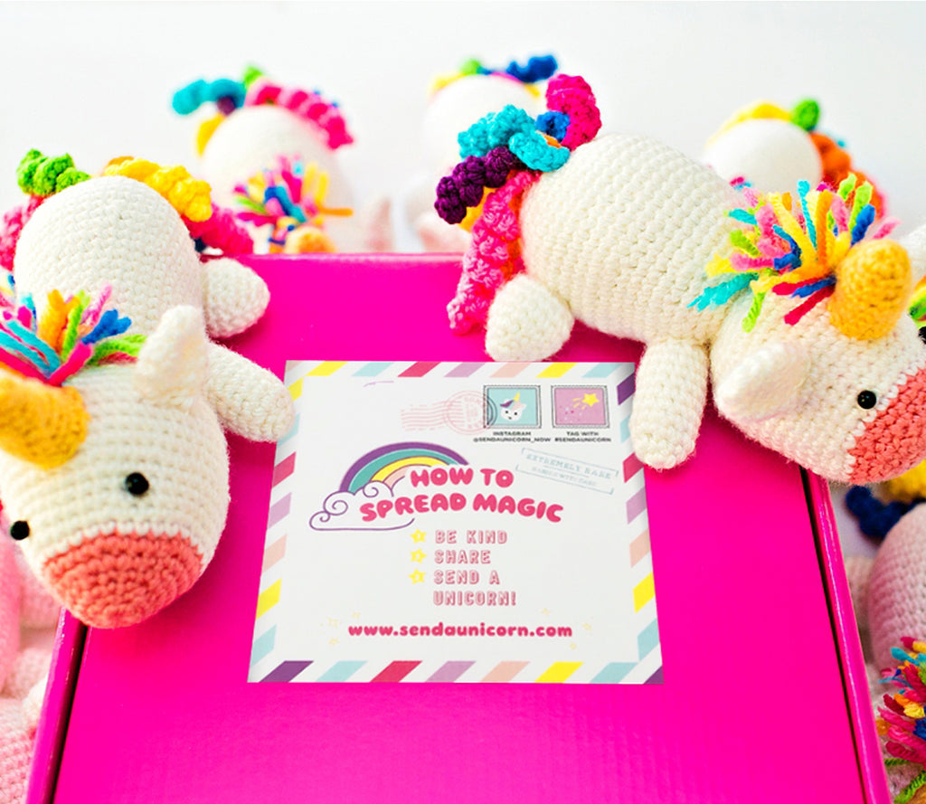Send a Magical Crochet Unicorn 1