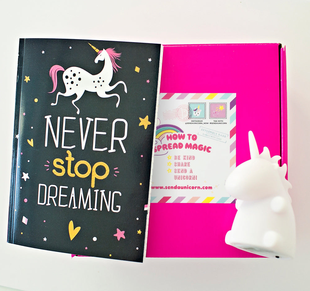 Send a Magical Unicorn Lamp and Journal