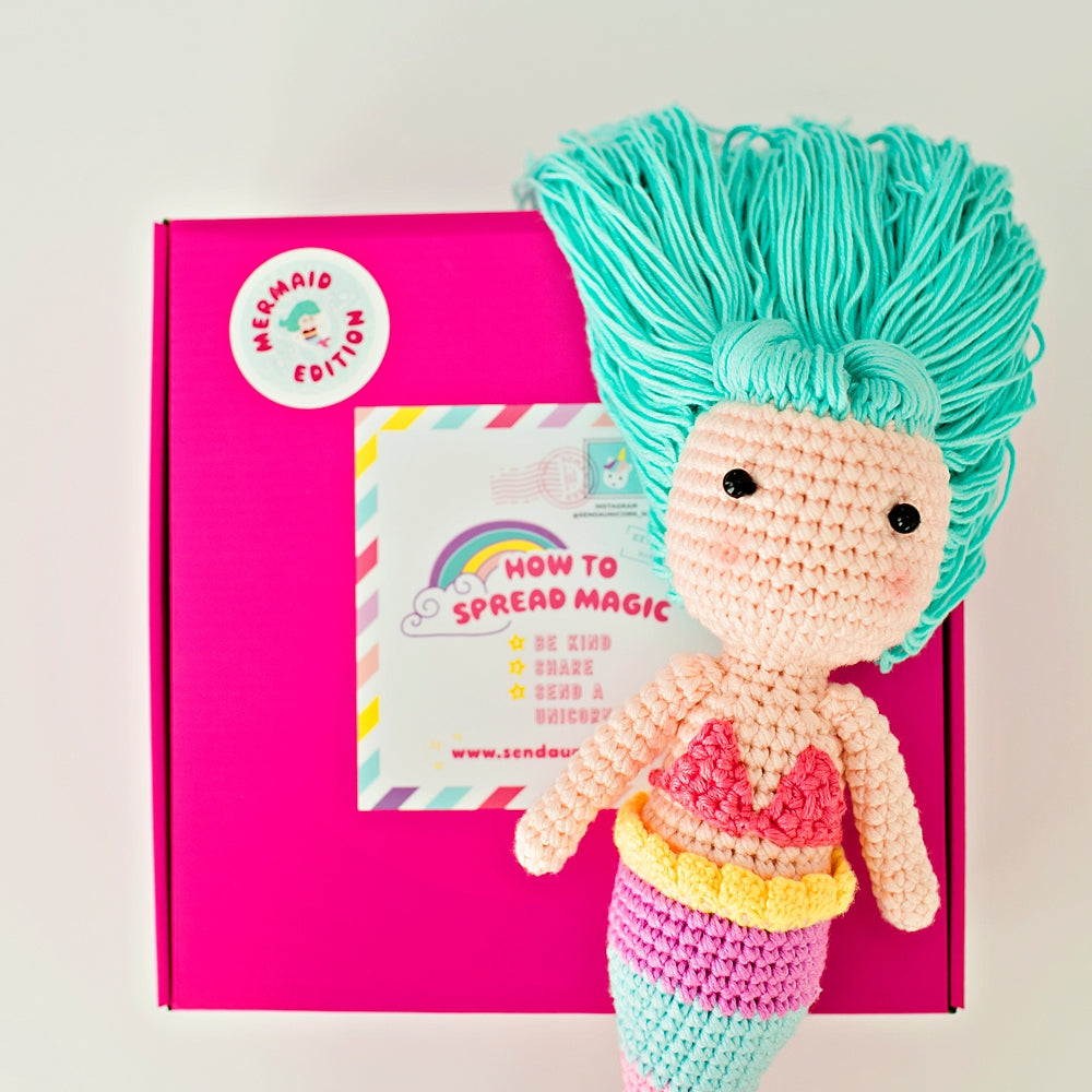 Coralie Mermaid Crochet Doll