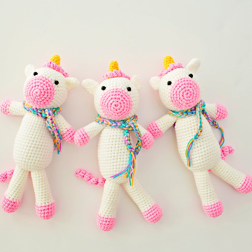 Jubilee Unicorn Crochet Doll