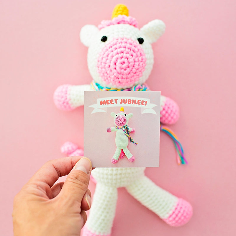 Jubilee Crochet Unicorn With Felt Letterboard