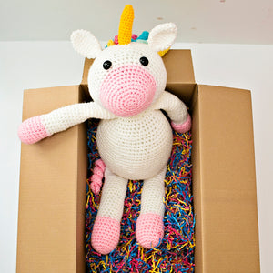 Aurelia Giant Unicorn Crochet Doll