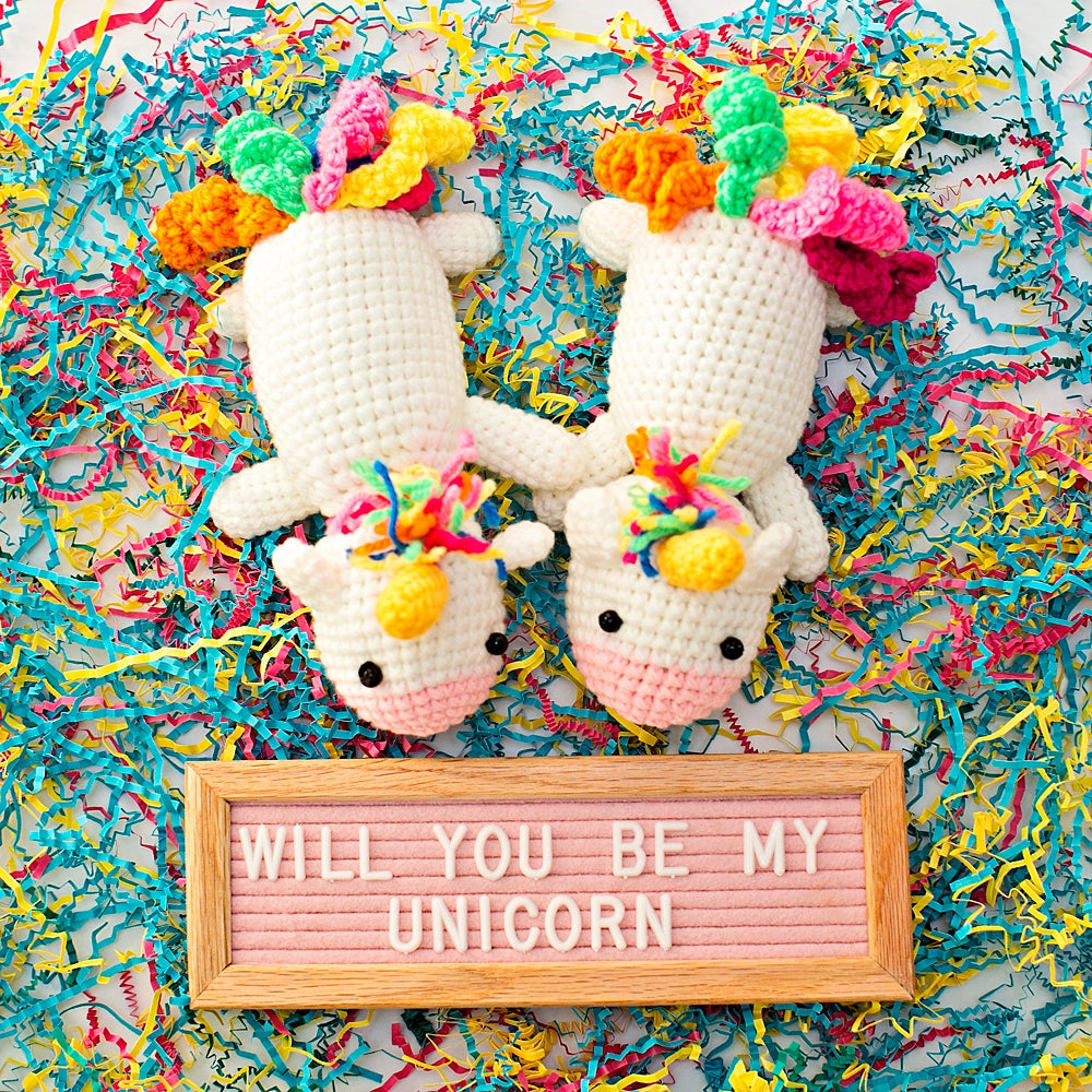 Calliope Crochet Unicorn With Felt Letterboard