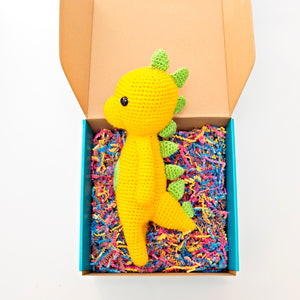 Orange Crochet Dinosaur