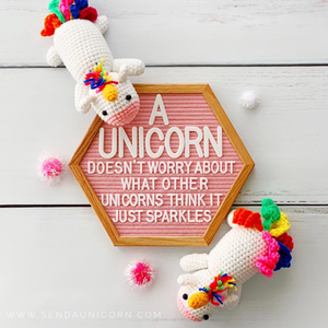 Calliope Unicorn Crochet Doll
