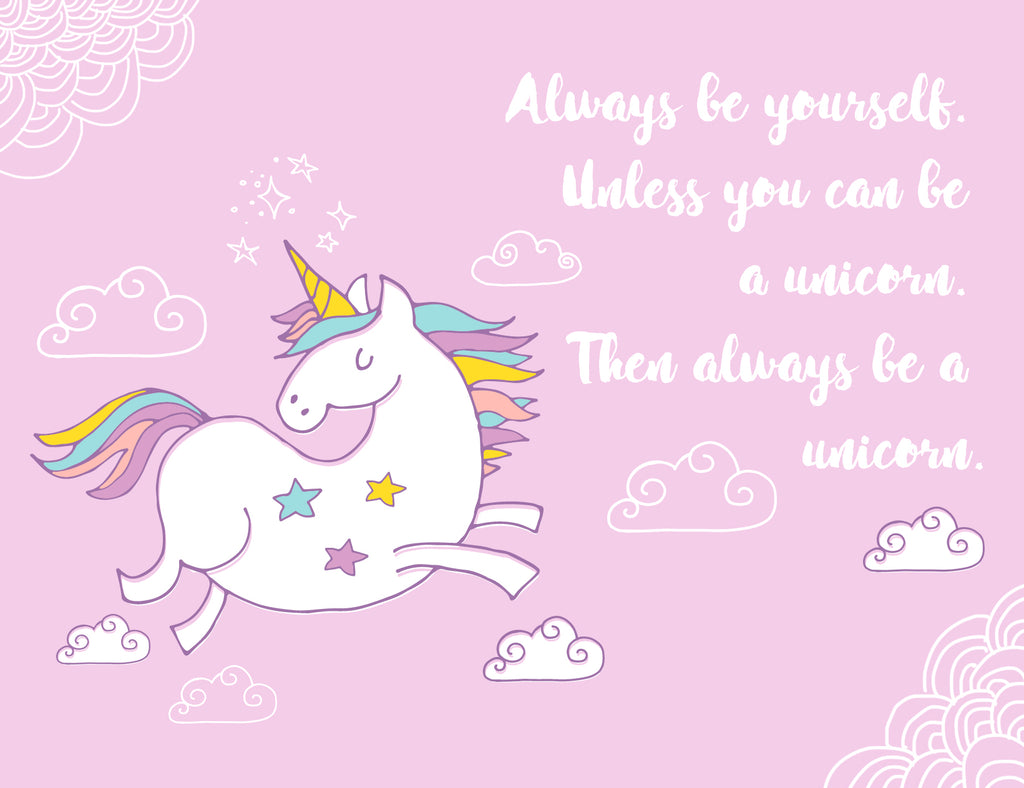 Always Be Yourself Or Be A Unicorn Card - Lavender
