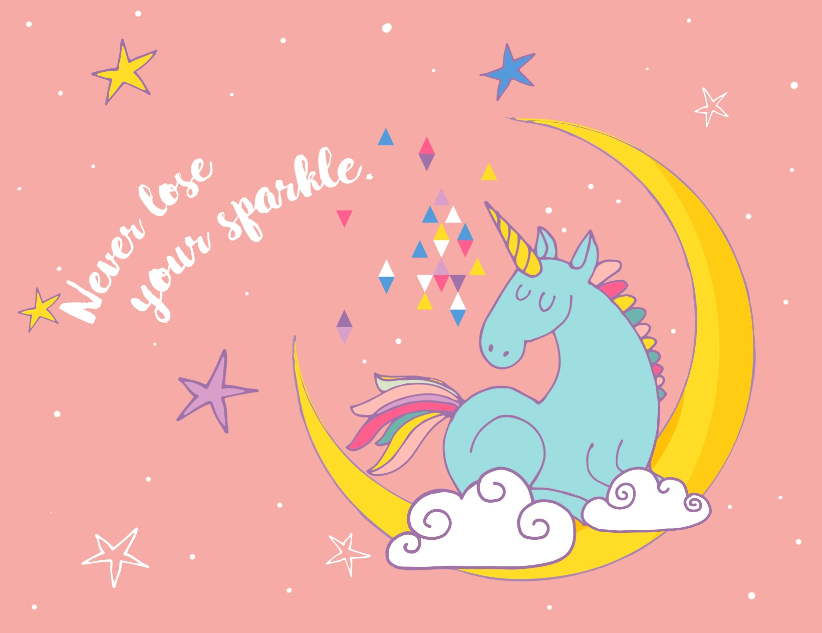 Never Lose Your Sparkle Card Unicorn Card