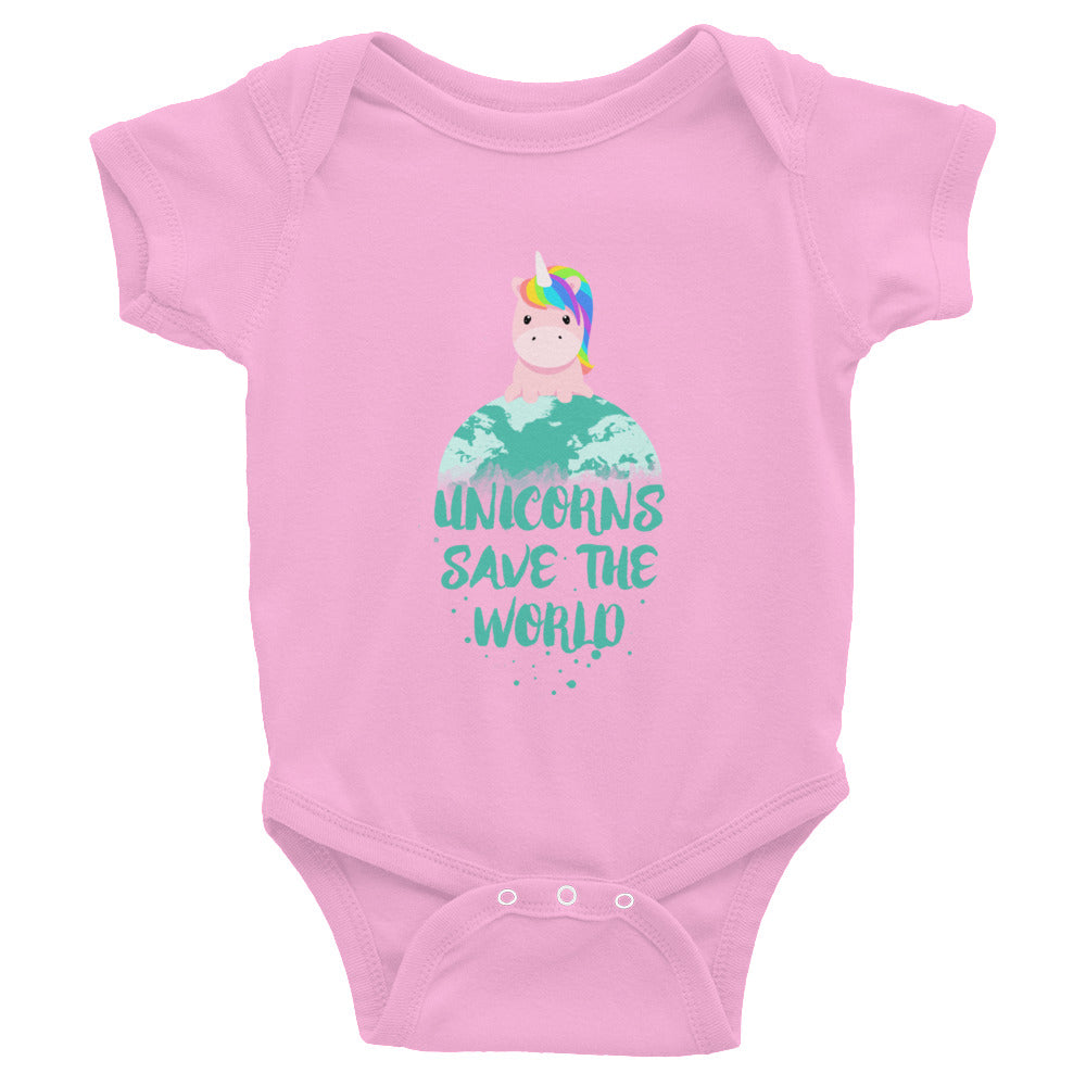 Unicorns Save the World Baby Onesie