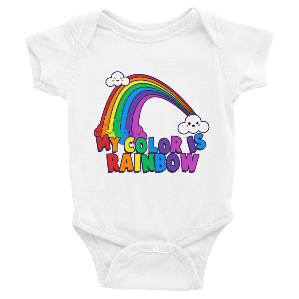 My Color is Rainbow Baby Onesie