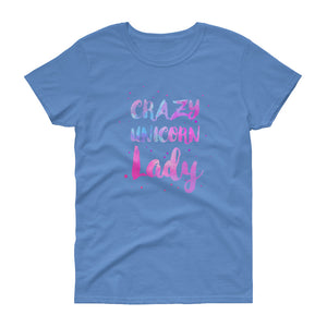 Crazy Unicorn Lady Women's Tee