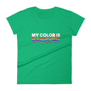 My Color is Rainbow Women's Tee
