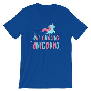 Out Chasing Unicorns Adult Tee