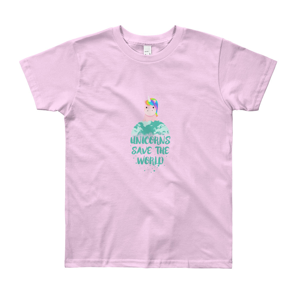 Unicorns Save the World Kids Tee