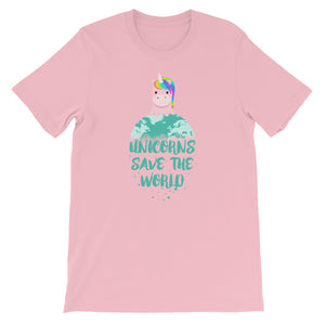 Unicorns Save the World Adult Tee