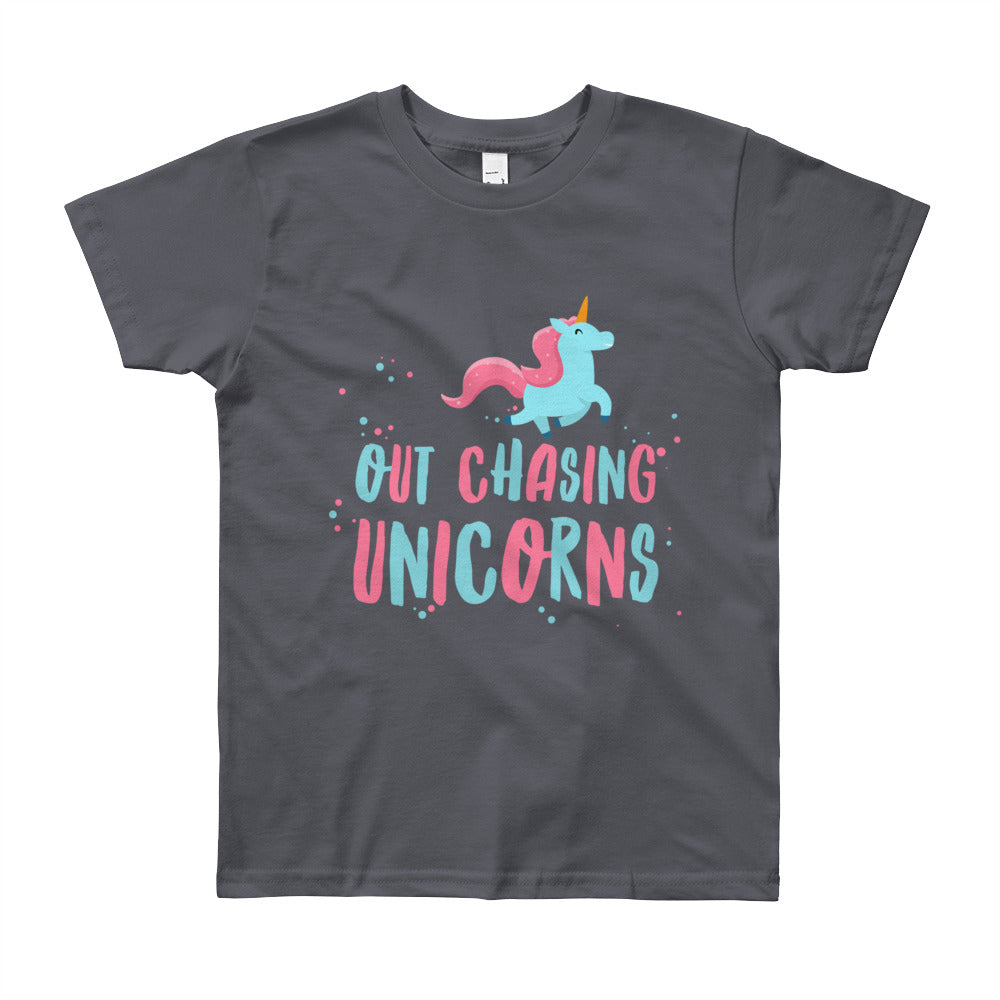 Out Chasing Unicorns Kids Tee