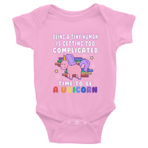 Time to Be a Unicorn Baby Onesie