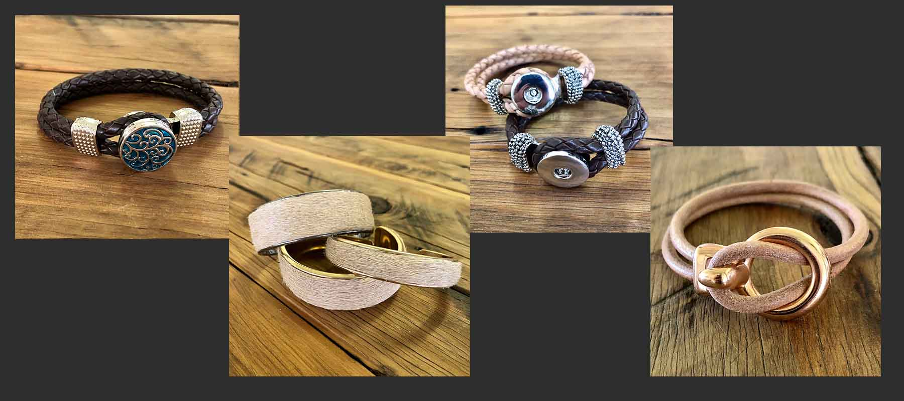 Leather and Hide Bracelets