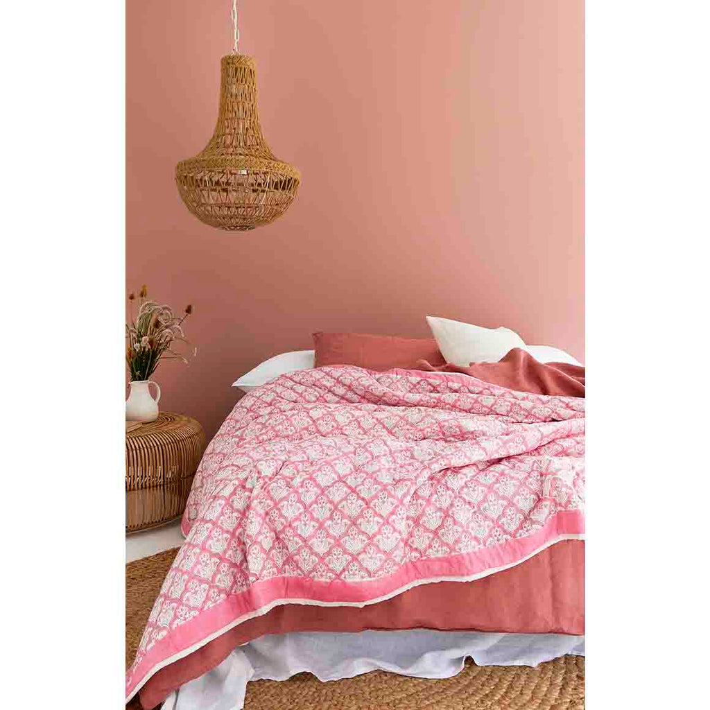 Pink Jaipur Royal Quilt (King Size)