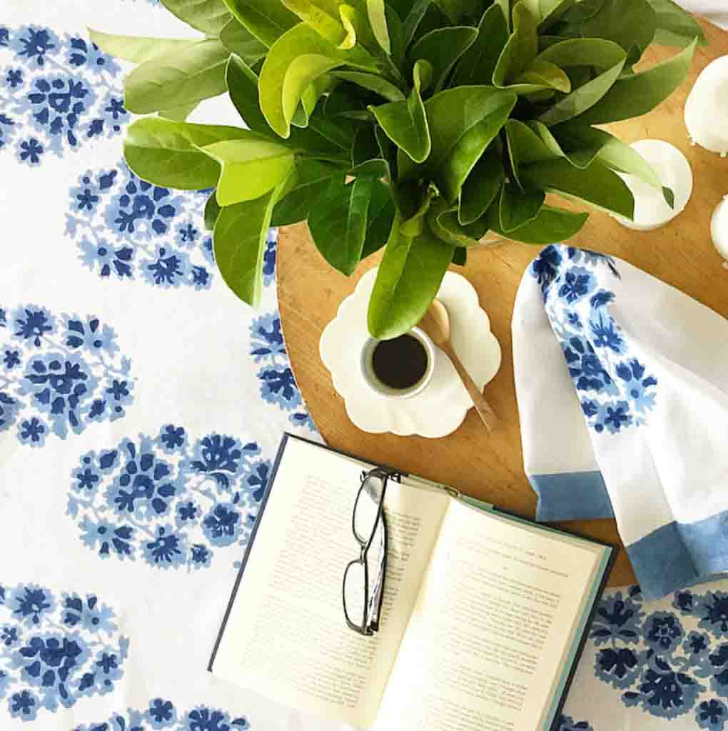 Hampton Style Paisely Tablecloth
