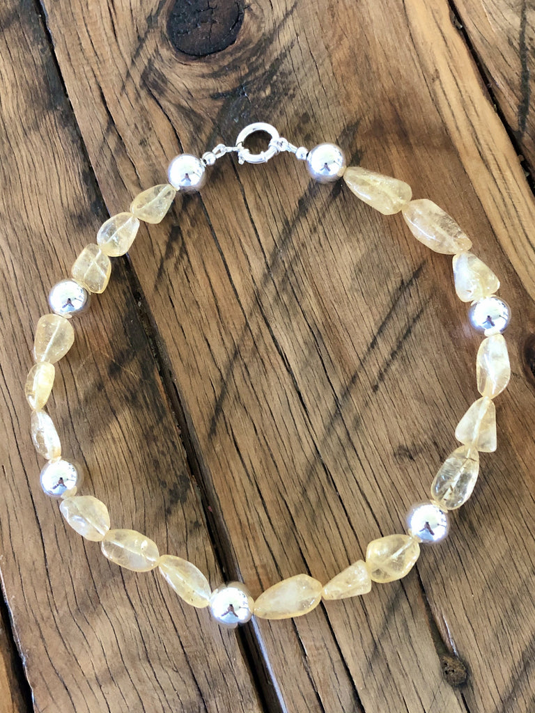 sterling silver & citrine necklace