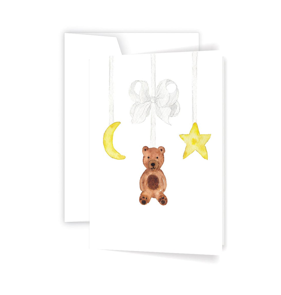 Baby bear mobile card