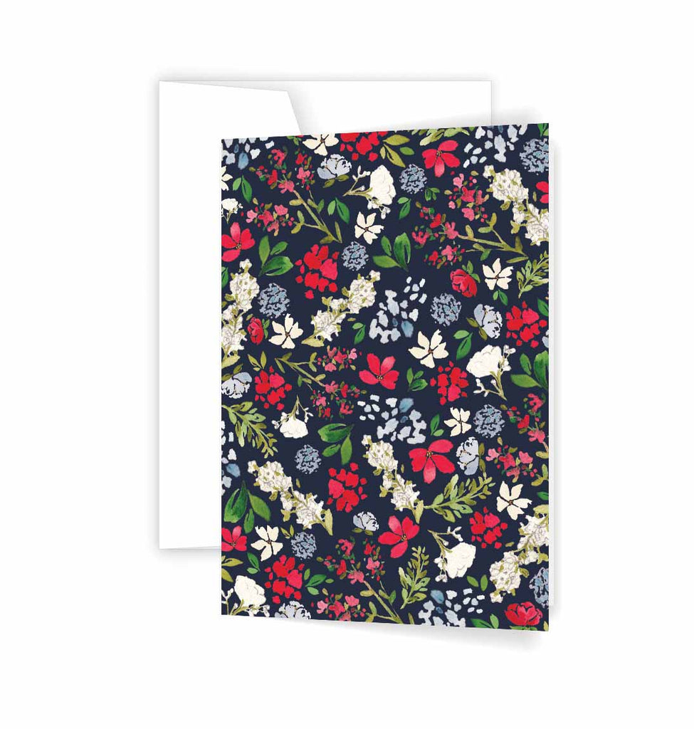 Navy Floral cards
