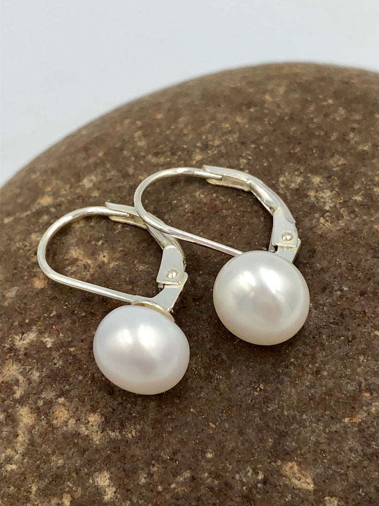Sterling Silver + Pale Pink Freshwater Pearl 7mm