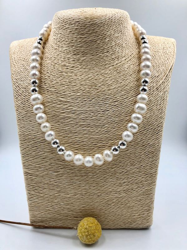 Pearl + Sterling Silver Necklace