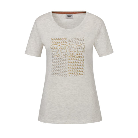 Audi T-Shirt, womens, grey