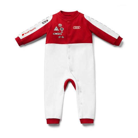 Audi Sport Baby racing romper, white/red