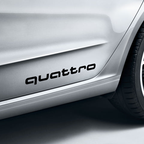 quattro decals. Black