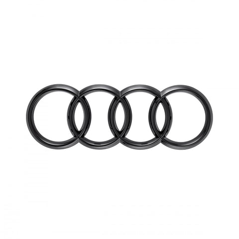 Audi rings, rear. Black
