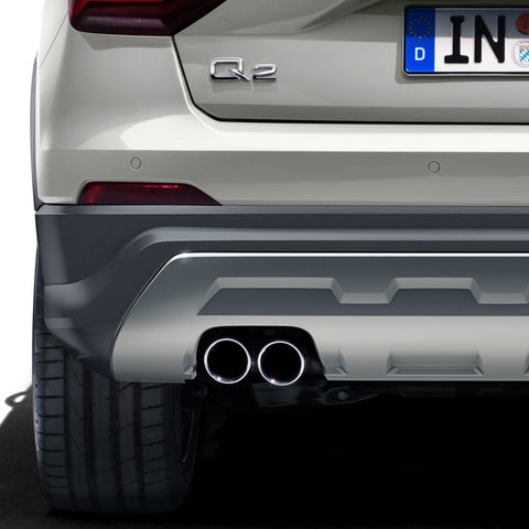 Sport tailpipe trims. Black chrome