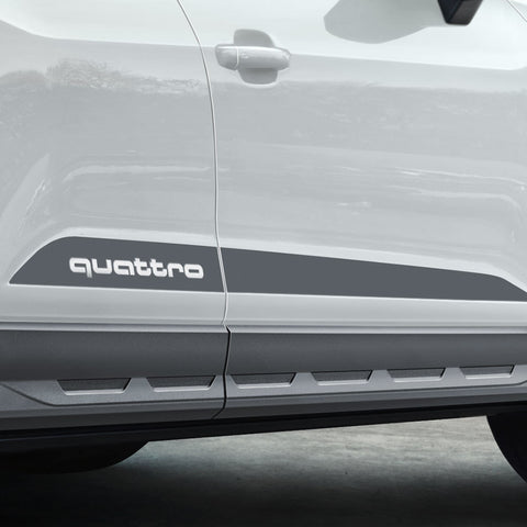 Decal set for the side sills, quattro