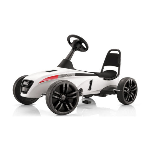 Audi Sport kids pedal car, white