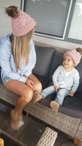 Mumma and bubba matchie beanie set