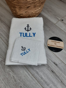 Anchor towel set