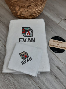 ABC Box with fabric towel set