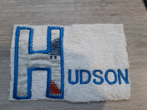 Letter fabric towel set