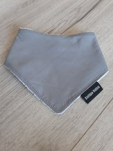 Dark Grey Plain Bandana Dribble Bib