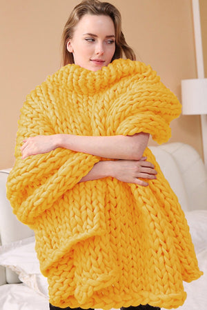 Chunky Knit Blanket - SnugLife | Epic Coziness