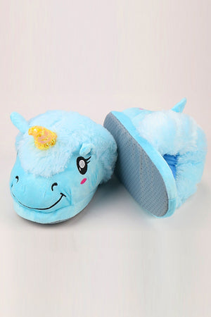 Blue Unicorn Slippers - SnugLife | Epic Coziness
