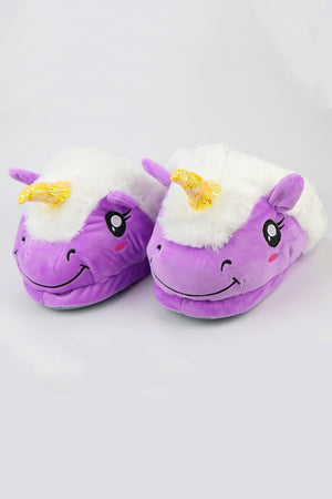 Purple Unicorn Slippers - SnugLife | Epic Coziness