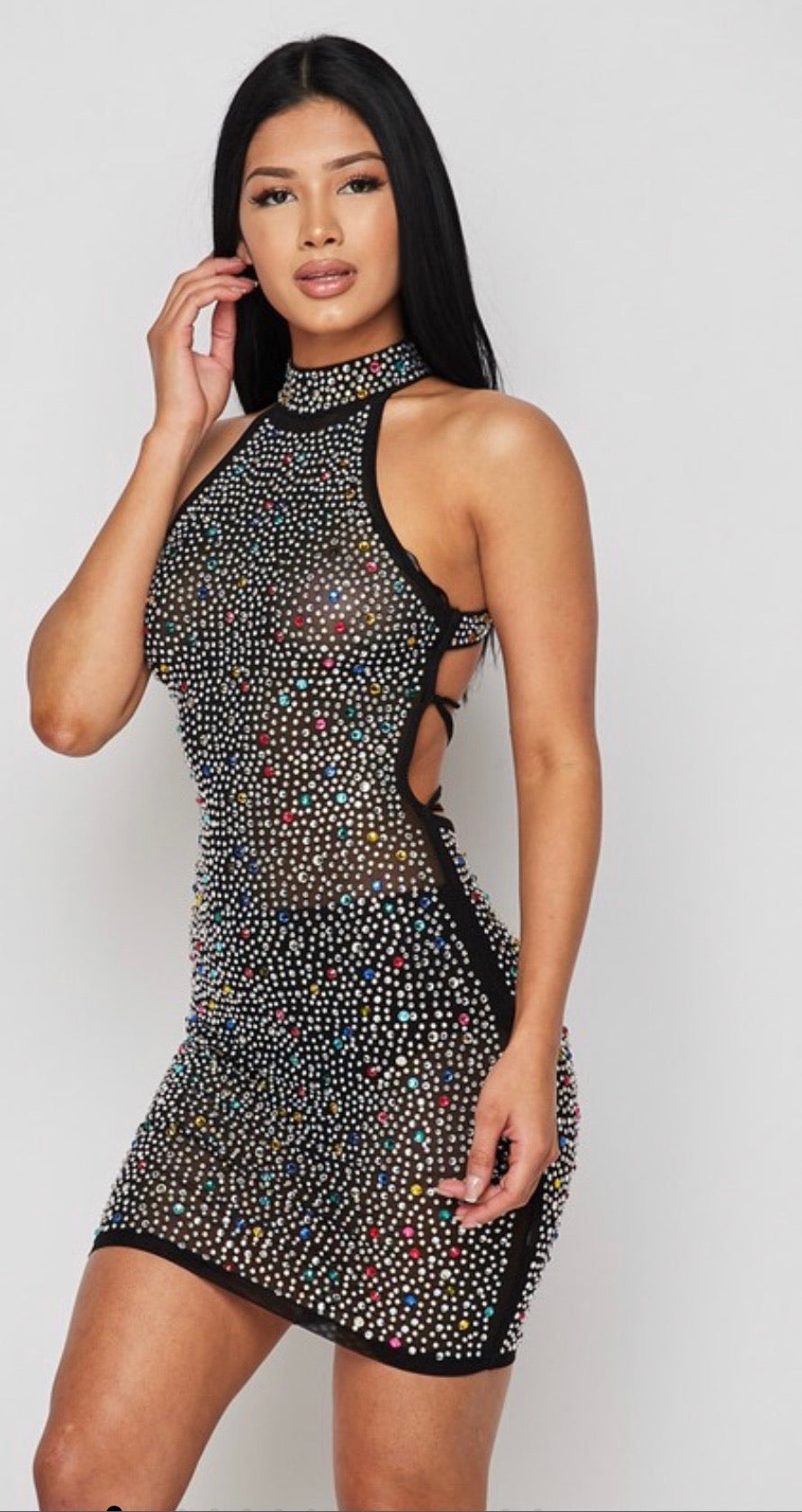 Candy Crystal Back Out Dress
