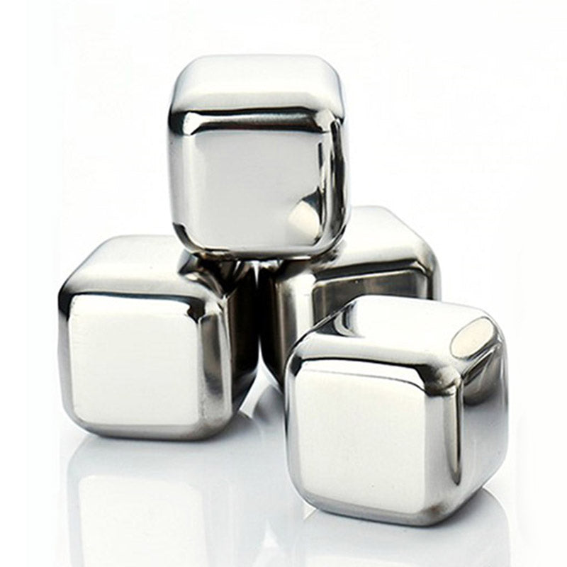 Stainless Steel Whiskey Stones 4pcs