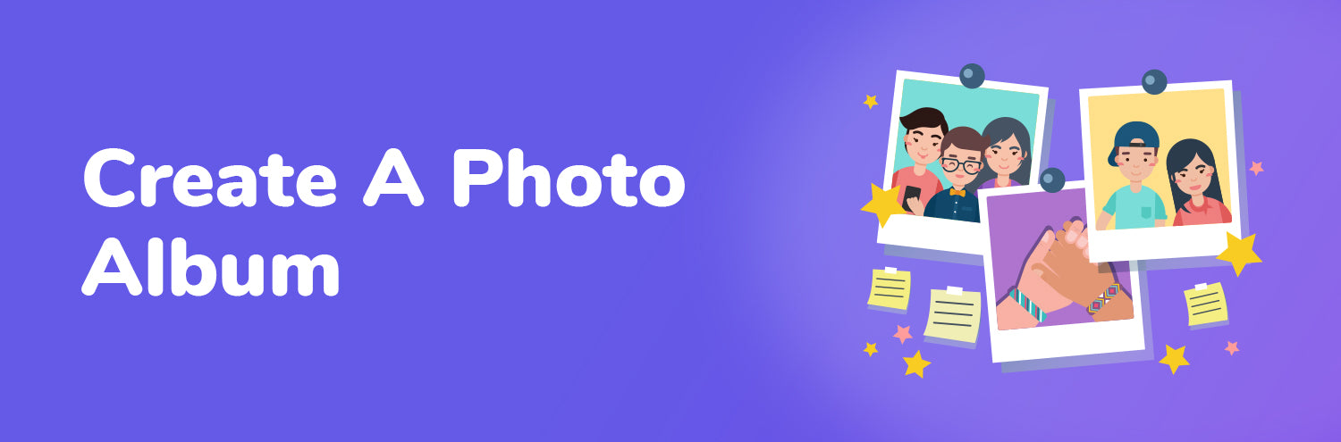 create a photo album with kids