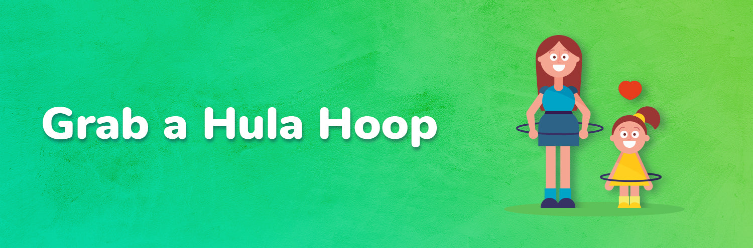 Hula hoop with kids activity