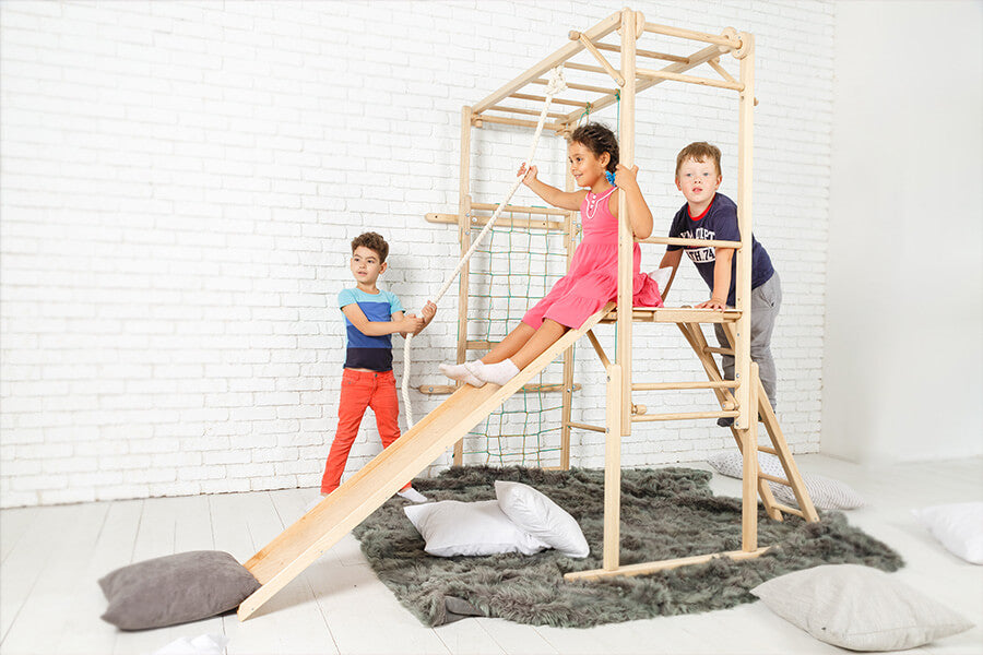 Indoor play area with happy kids by Ezplay