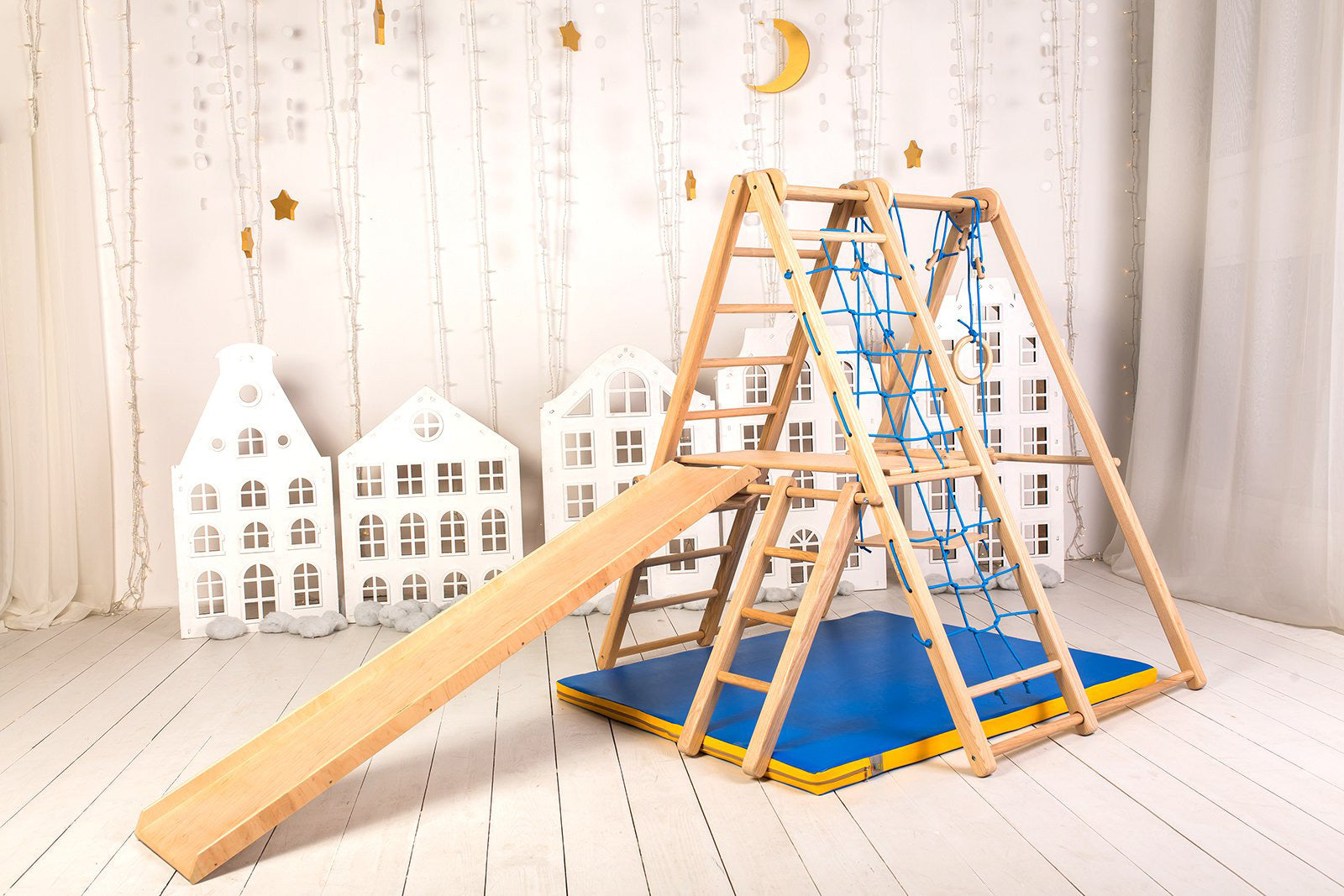 Wooden playset for toddlers